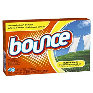 Bounce Outdoor Fresh Fabric Softener Sheets, 40 Count (Pack of 3)