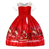 Clearance Forthery Christmas Dress Girls Santa