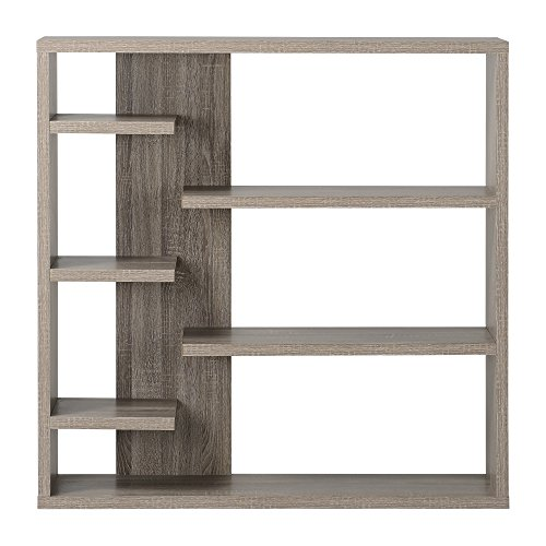 Homestar 6-Shelf Storage Bookcase in Reclaimed Wood by Home Star (Image #3)