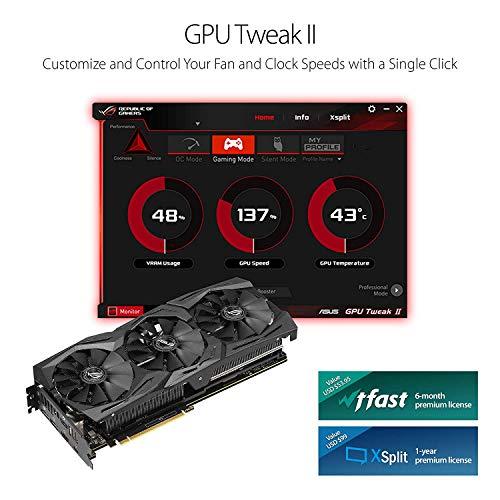ASUS ROG STRIX GeForce RTX 2070 Overclocked 8G GDDR6 VR Ready HDMI DP 1.4 USB Type-C Graphics Gaming Card (ROG-STRIX-RTX-2070-O8G)