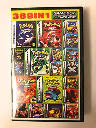 Hip Hop Electronics Game Boy Advanced 369 in 1 GBA Nes Full Game Classics (Best Gameboy And Gameboy Color Games)
