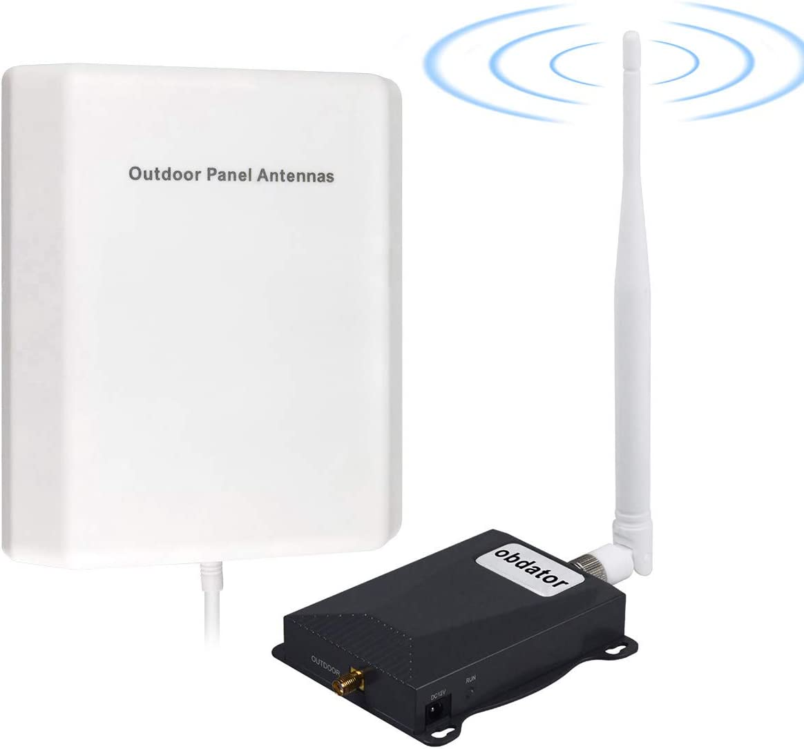 AT&T Cell Phone Signal Booster 4G LTE Cell Booster Band 12/17 FDD 700MHz ATT T-Mobile Cellular Mobile Siganl Booster Home Use Cell Phone Signal Amplifier Kit Boost Voice & Data
