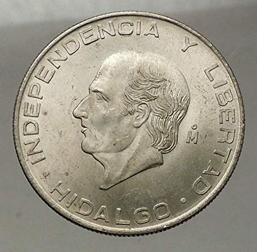 (1956 MX 1956 MEXICO Large SILVER 5 Pesos Coin w MEXICAN I coin Good)