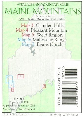 Camden Pleasant Weld Mahoosucs Evans Notch Maine Mountain Guide