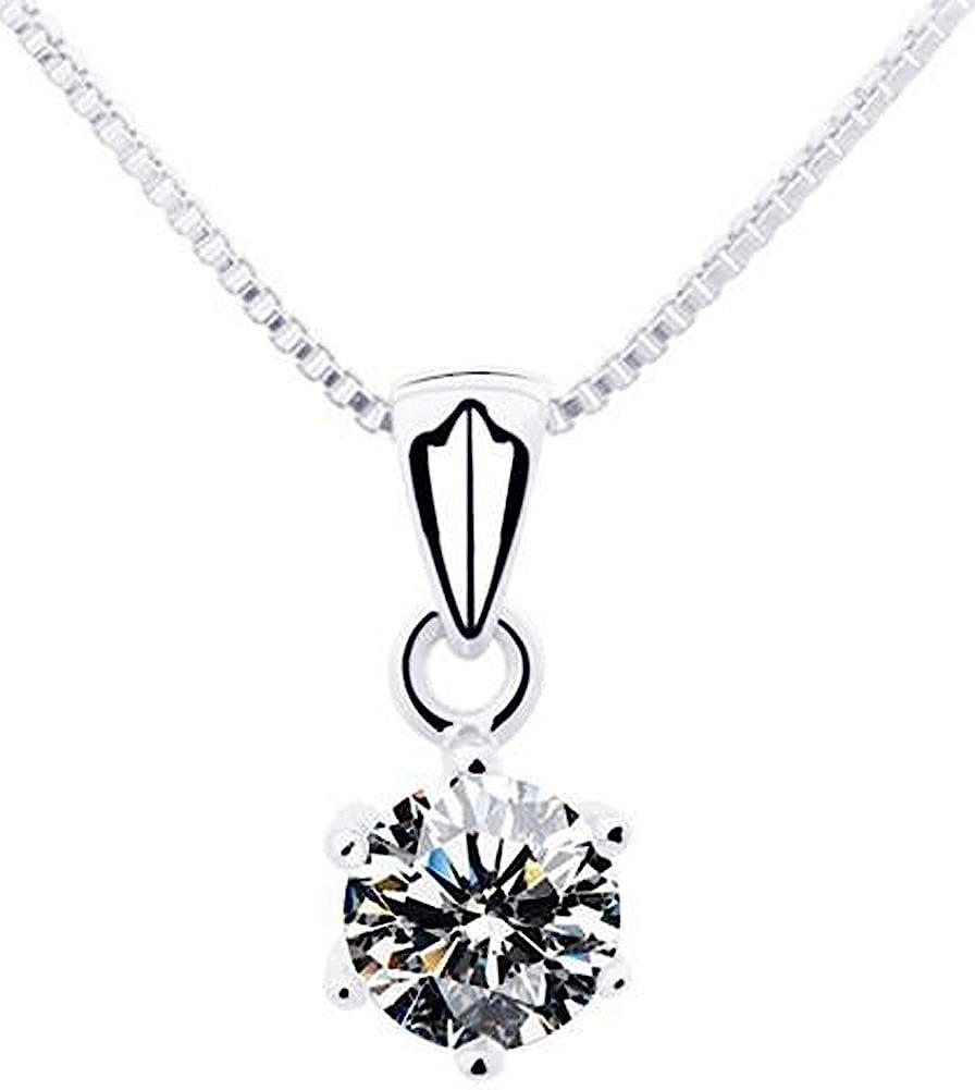 AmaranTeen Cubic Zirconial Pendants Simple Luxury Necklaces