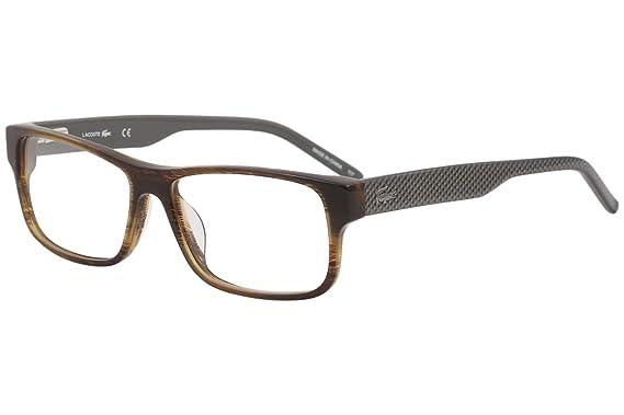 8c8a2a0e969 Amazon.com  LACOSTE Eyeglasses L2660 210 Brown Horn 55MM  Clothing