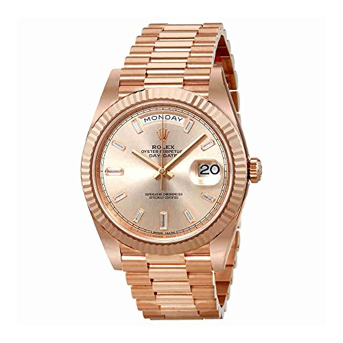 Rolex President Day Date Rose Dial Mens Watch 228235SNDP