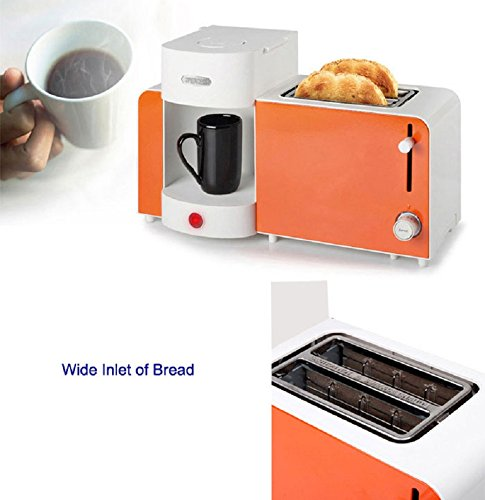 Princess Coffee Maker Espresso Machine Toaster All-in-One Set Orange 252183 - Coffee Pigs