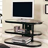 Coaster Black Contemporary Metal and Glass Media Console Review
