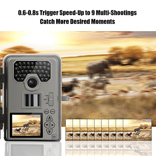 LESHP Trail and Game Camera Motion Activated 12 MP 1080P No Glow Trail Camera with Infrared Night Vision Built-in 2.0'' LCD Screen Outdoor Waterproof IP66 Scouting Camera Deer Camera Digital Surveilla by LESHP (Image #5)