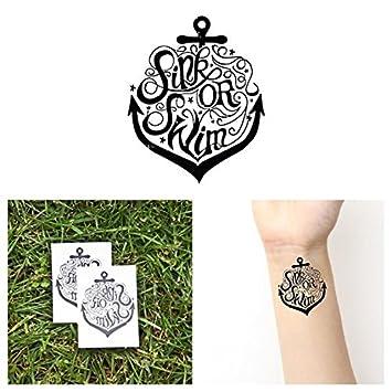 Amazoncom Tattify Sink Or Swim Temporary Tattoo Swim Soda Set