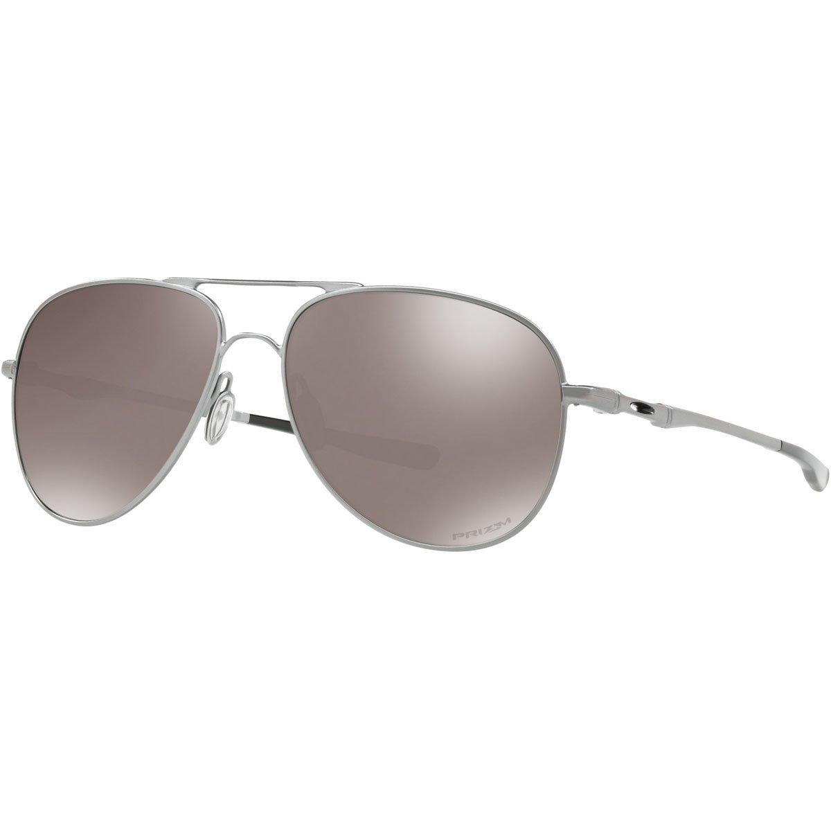 Oakley Metal Unisex Polarized Aviator Sunglasses, Lead, 60 mm
