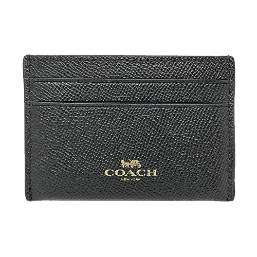 c394b418 Coach Slim Card Case Baseball Stitch F22370 Black - Buy Online in ...