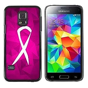 Paccase / SLIM PC / Aliminium Casa Carcasa Funda Case Cover - Fight Purple Pink Charity Support - Samsung Galaxy S5 Mini, SM-G800, NOT S5 REGULAR!