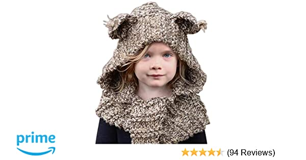 b38f6df66 Amazon.com  Sumolux Winter Kids Warm Cat Animal Hats Knitted Coif ...