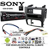 Volunteer Audio Sony CDX-G1200U Double Din Radio Install Kit with CD Player, USB/AUX Fits 2007-2013 Nissan Altima (Digital Climate Controls)