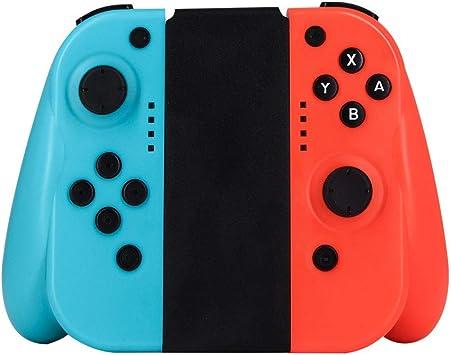 J&TOP Joy-con inalámbrico para Nintendo Switch, Controladores Izquierdo y Derecho Compatible con Nintendo Switch como un Joy con Controlador de Repuesto, Color Rojo/Azul: Amazon.es: Electrónica