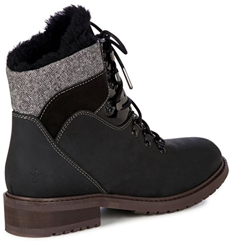 Emu Australië Primrose Zand Womens Deluxe Wol Waterdichte Laarzen Zwart
