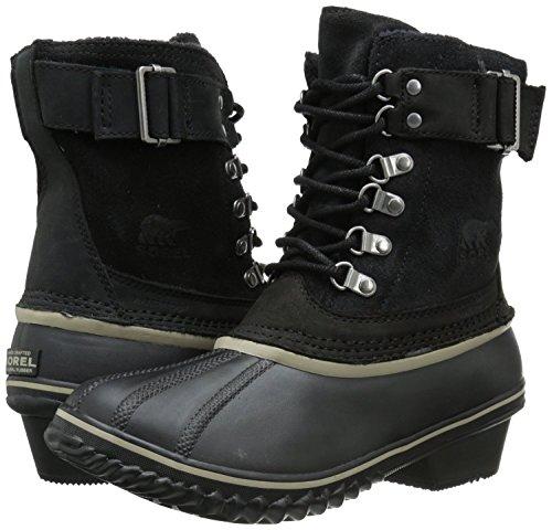 SOREL Women's Winter Fancy Lace II Cold Weather Boot, Black/Silver/Sage, 8 M US