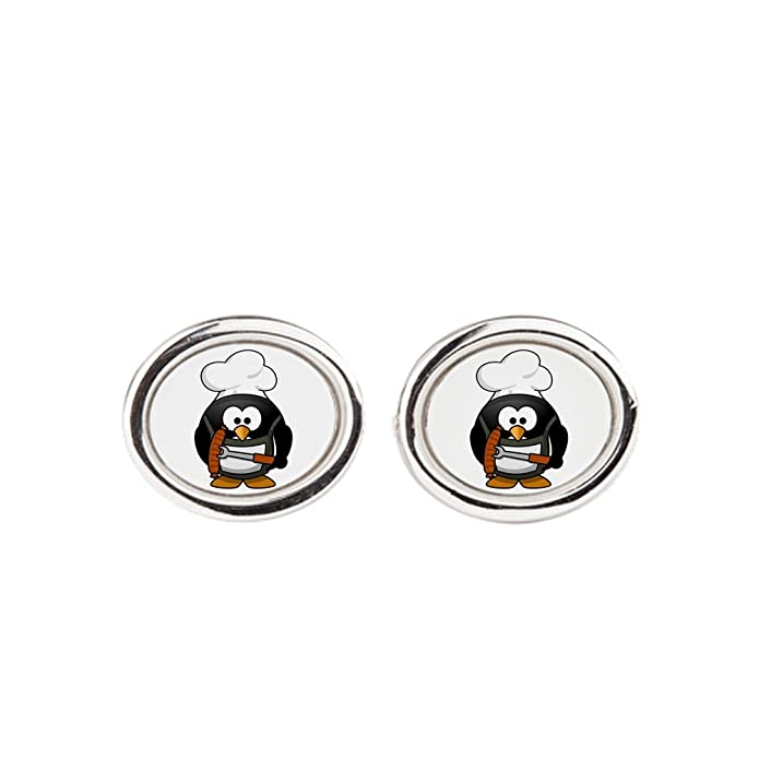 Cufflinks Little Round Penguin Square BBQ Grill King