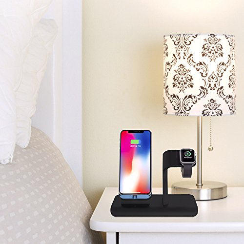 Apple Watch Stand charging docks & iPhone X Wireless Charger Stand for iPhone X/8/8 Plus,iwatch charger stand holder for Apple Watch Series 3,2,1 & Nike by XDODD (Image #6)