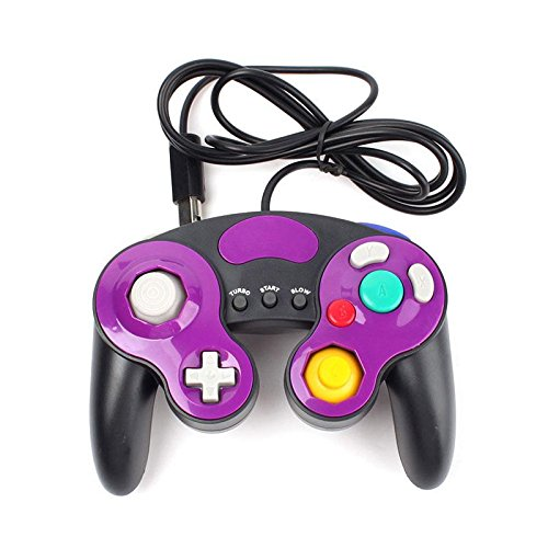 Eachbid Good Feel The Operation of The Game Controller Gamepad Black+Purple