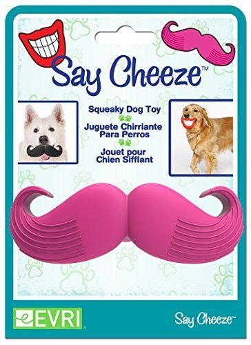Say Cheeze – Squeak DOG pet Toy (Pink Mustache) – Looks like your Pup has a Moustache by Evriholder