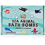 Kids Bath Bombs with Surprise Inside: Sea Animal Toys Inside, Great Bath Bombs Gift Set for Boys and...