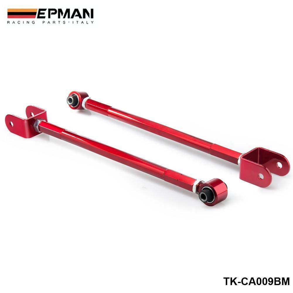 EPMAN Adjustable Rear Lower Control Arm/Bar/Rod Camber Kit For 95-05 BMW E46/E36/Z4/M3 3-Series (Red) RUIAN EP INTERNATIONAL TRADE CO. LTD