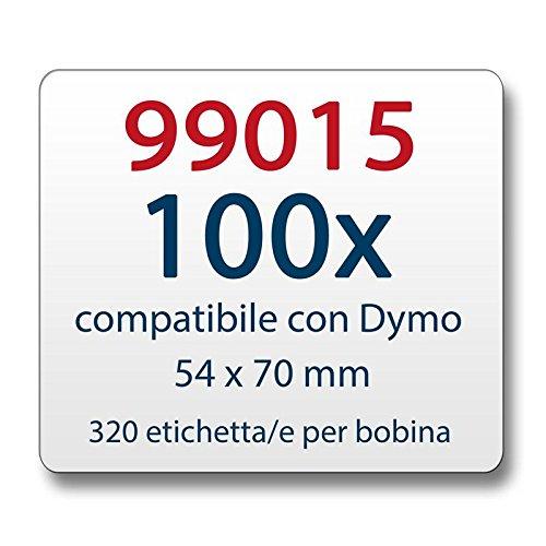 320 DRUCKER ETIKETTEN 54x70mm für DYMO Labelwriter 4XL EL60 EL40
