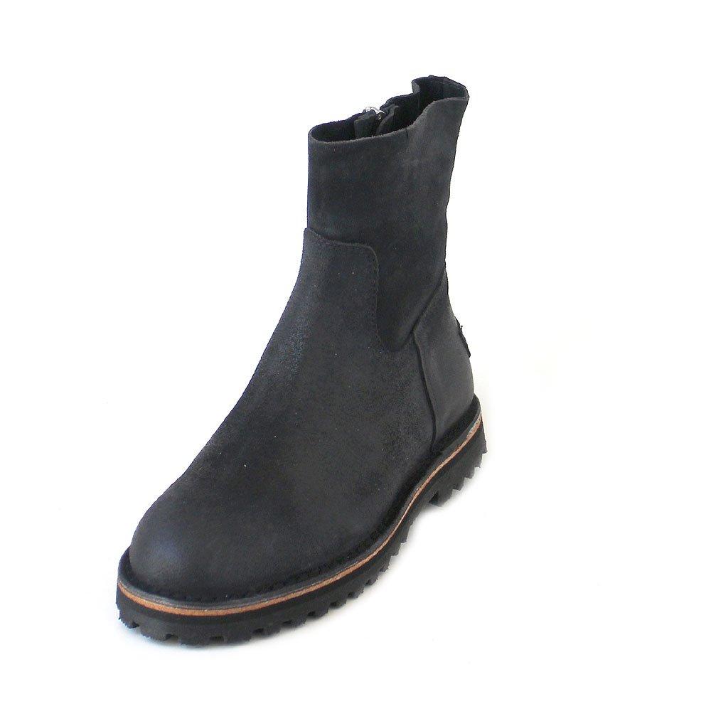 Shabbies Amsterdam Ankle Stiefel Waxed Suede Dark Blau, Größe 38