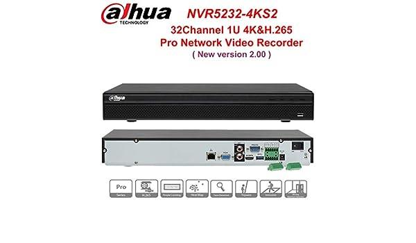Dahua NVR5232-4KS2 32CH 1U 4K/&H.265 Pro 2SATA Network Video Recorder No POE