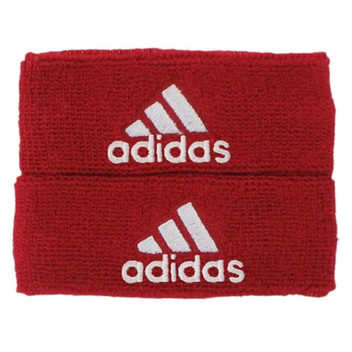 adidas Interval 1-inch Muscle Band Sweatband, University Red/White, One Size Fits All