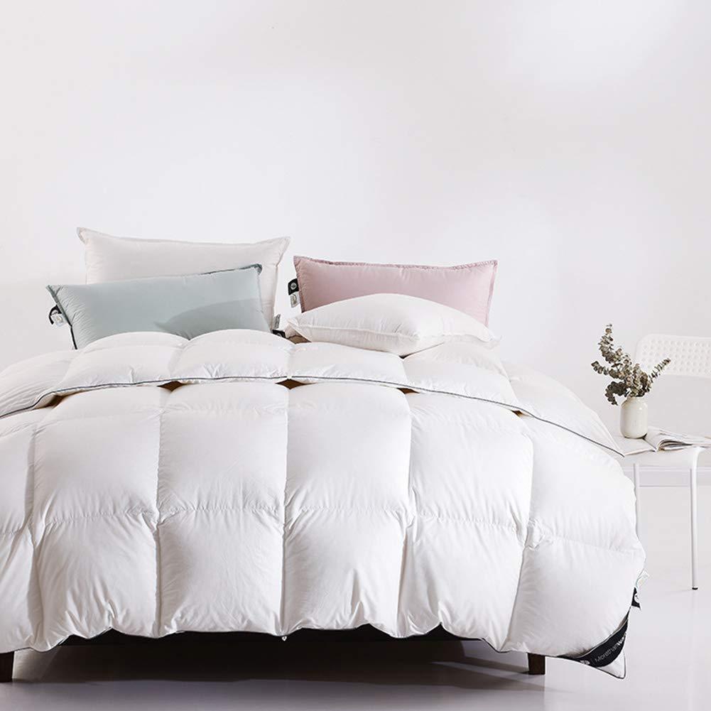 Weiße Gänsedaune Bettdecke Einfügen Hypoallergen Schützt Gegen Staub Milben Und Allergene Gefühl Weich Und Angenehm Zu Berühren,200x230cm~0.7kg