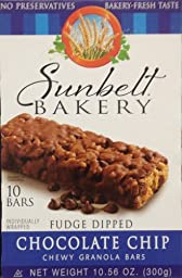 Fudge-Dipped CHOCOLATE CHIP Chewy Granola Bars 10-Count (8 Boxes)