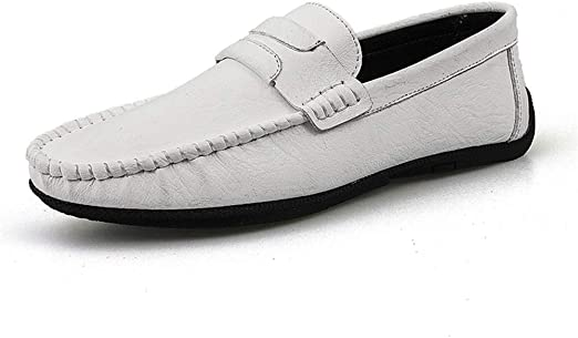 Men/'s Moccasin Slip On Loafers Casual Driving Boat Leather Shoes US SIZE Fashion