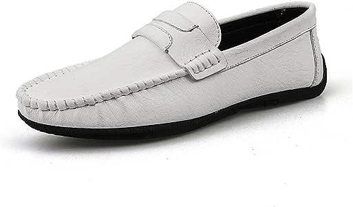 Zhulongjin Mocasines de conducción casuales retro for hombres Mocasines antideslizantes sin cordones Mocasines for barcos Zapatos de cuero genuino suave Costuras hechas a mano Resistente al desgaste M: Amazon.es: Hogar