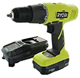Ryobi P1810 18-Volt ONE+ Lithium-Ion Cordless Drill Driver Kit