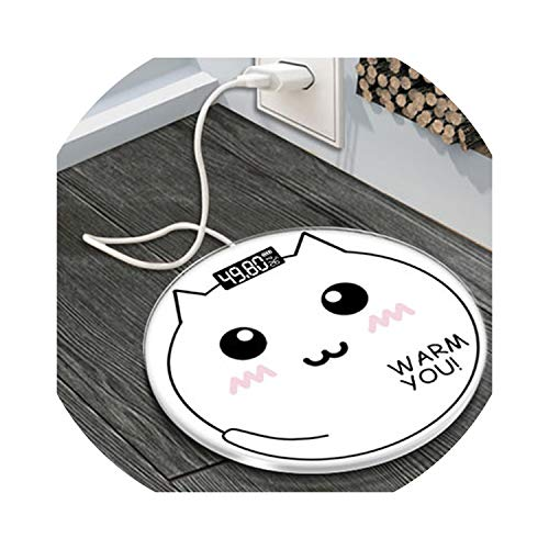 28CM Lovely Cat Home Electronic Bathroom Scales Adult Cartoon Human Body Scale Small Weight Scales in The Girl's Dormitory,Charge Style