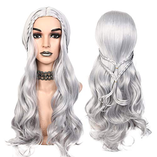 (MODAO Game Of Thrones 30Inch Long Curly Wavy Synthetic Hair Wigs Women Girl Cosplay Wigs for Costumes)