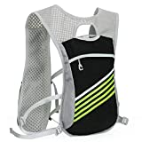 TZZ Sports Water Bag Backpack 5.5L 6 Pocket Running Hiking Backpack Trail Marathon Sports Racing Lightweight Hydrating Vest
