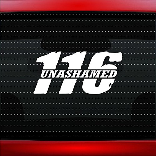 Noizy Graphics Unashamed #2 Romans 116 Christian Car Sticker Truck Window Vinyl Decal Color: Dark Gray
