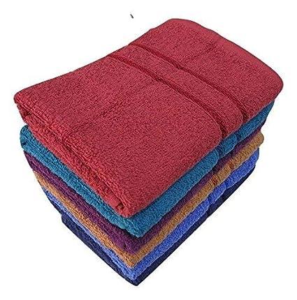 Bombay Dyeing Cotton Hand Towel Set (Multicolour, 40cm x 60cm)- 6 Pieces
