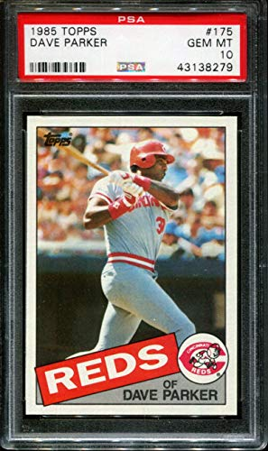 1985 TOPPS TIFFANY #175 DAVE PARKER REDS PSA 10 - Parker Topps Dave Reds