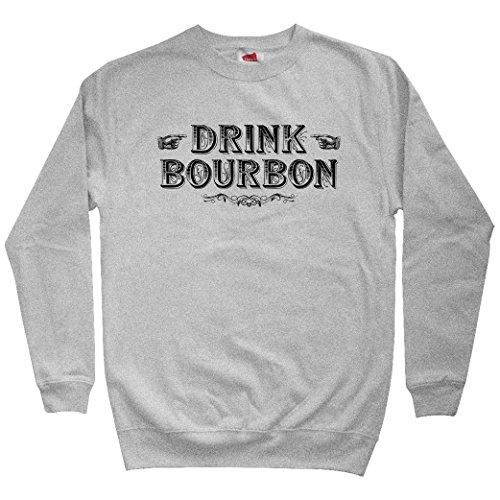Smash Transit Men's Drink Bourbon Sweatshirt - Heather Gray, X-Large ()