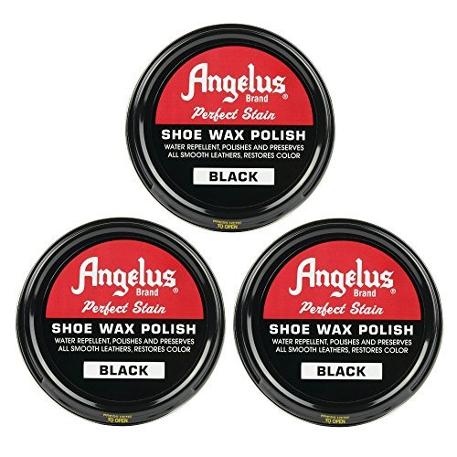 Angelus Shoe Wax Polish Black 3 Pack