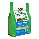 GREENIES Hip and Joint Care Dental TEENIE Dog Treats – Mega TREAT-PAK Package 18 oz. 65 Treats