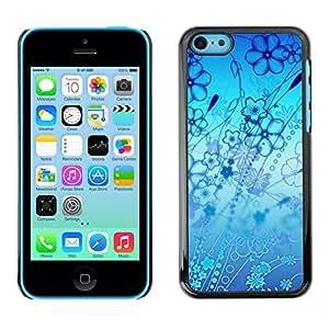 Be Good Phone Accessory // Dura Cáscara cubierta Protectora Caso Carcasa Funda de Protección para Apple Iphone 5C // Flowers Blue Ocean Art Nature Wallpaper