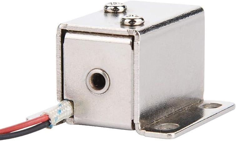 Cerradura Electromagn/ética Electromagn/ética Solenoide DC 12V Ampliamente Utilizada Puerta Gabinete Control de Acceso de Caj/ón para Gabinete Cerradura de Seguridad Cerradura Inteligente