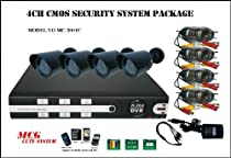 MCG MC-3001C CCTV System Digital Video H.264DVR Internet & 3G Phone Accessible 4-Channel DVR with 4 Night Vision Cameras and 500 GB HD